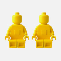 Lego-Bot Book Ends Set of 2 – Yellow