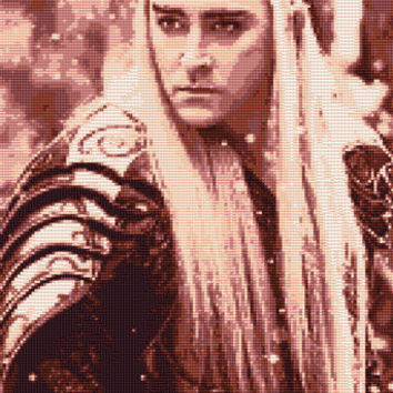 Thranduil - Battle of the five Armies Cross Stitch Pattern (Large)