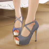 Sexy high-heeled fish mouth shoes 2061SD