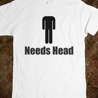 Headless man...-Unisex White T-Shirt