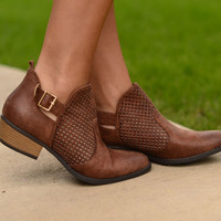 Back In Town Ankle Boots- Brown