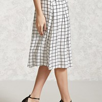 Contemporary Grid Print Skirt