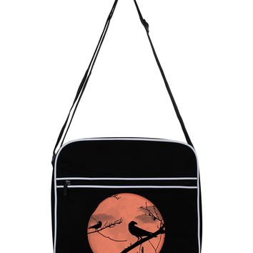 Crow Silhouette Black Flight Bag