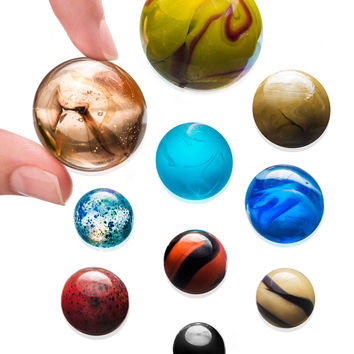 Solar System Marble Set: Collectible set of solar objects formed in glass.