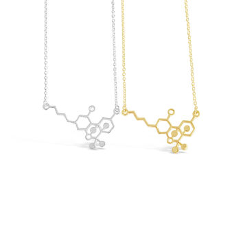 THC Molecule Necklace, Cannabis Molecule, Use This Nerdy Necklace Jewelry Piece to Celebrate the Weed Freedom!