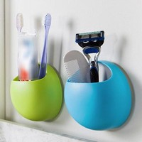 Toothbrush Holder Suction Hooks Cups Organizer Bathroom