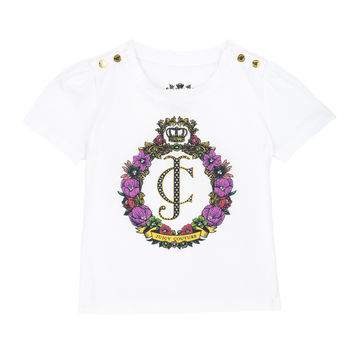BABY LOGO FLORAL CREST SHORT SLEEVE TEE