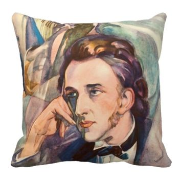 Frederic Chopin Composer Musician Portrait Famous Throw Pillow