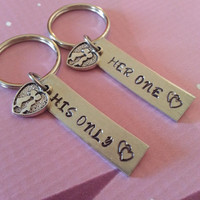His and Her Keychain Set - Her one His only  - Couples,Wedding, Anniversary Keychain
