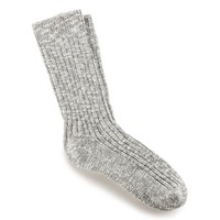 Birkenstock Cotton Slub Women Sock - Gray/White