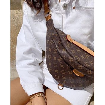 Louis Vuitton Women Fashion Leather Purse Waist Bag Single-Shoulder Bag