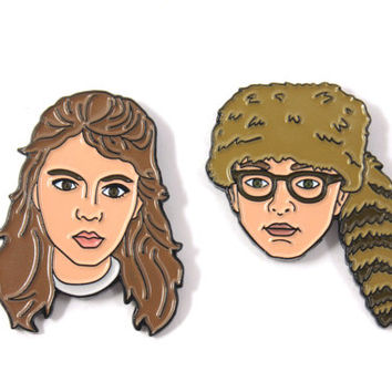 Sam and Suzy Soft Enamel Pin Pack - Moonrise Kingdom Wes Anderson The Life Aquatic Steve Zissou