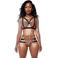 Sexy African Print Two Piece Bathing Suit