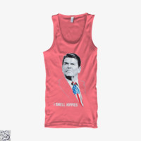 I Smell Hippies Ronald Reagan, Conservative Tank Top