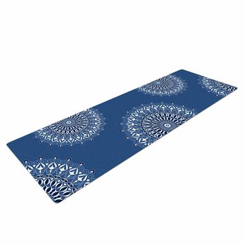 "Julia Grifol ""Blue Harmony"" Blue White Digital Yoga Mat"