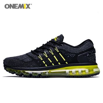 ONEMIX 2018 Max Men Walking Shoes For Women Cushion Fitness Trail Athletic Trainers Tennis Sports Black Outdoor Running Sneakers