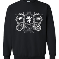New ''Games Of Thrones'' Inspired Houses Logos Printed Unisex CrewNeck,Sweatshirt, Jumper