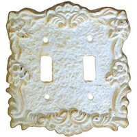 VIP International Double Light Switch Cover - White
