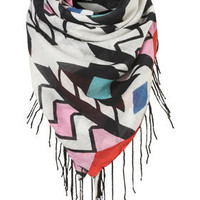 Bead Edge Triangle Scarf - Scarves  - Accessories