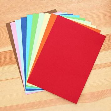 1 pack 10 sheets colored card paper 250x180mm 180g/m DIY origami payper for kids Deli 73041