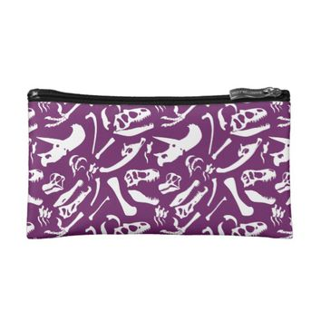 Dinosaur Bones (Purple) Cosmetic Bag