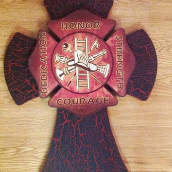 SALE20%OFF Large Fireman Cross
