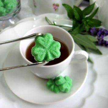 Shamrock Shaped Sugar Cubes for Tea Parties, Showers, and Gifts 3 Dozen