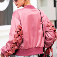 Bess Ribbon Bomber Jacket
