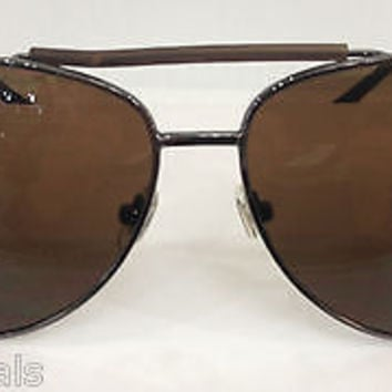 NEW AUTHENTIC TOMMY HILFIGER SILVER COL MM OM60 BROWN METAL SUNGLASSES FRAME