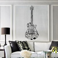 Vinyl Wall Decal Guitar Music Musical Instrument Stickers Mural Unique Gift (189ig)
