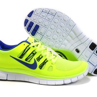 Women's Nike Free 5.0 V2 Shoes Electric Yellow/Blue