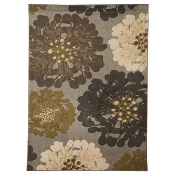 Mohawk Home Flowers Praline Area Rug - Cocoa