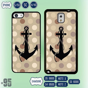 USA Anchor Polka Dot Samsung Galaxy S5 case Samsung S4 cover S3 Note 3 Note 2 , IPhone 5S case , personalized iPhone 5 , 5C , IPhone 4 4S 95