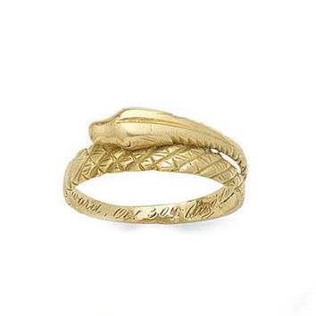 Victorian Coiled Snake Ring -1860