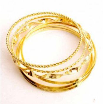 Gold Toned Bangles - 29 and Under