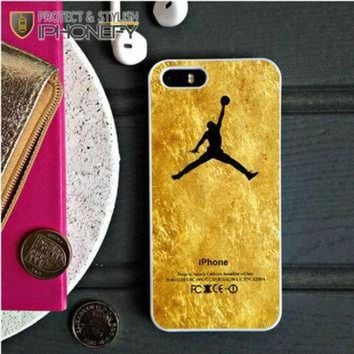 CREYUG7 Michael Jordan Golden Gold Pattern iPhone 5C Case|iPhonefy