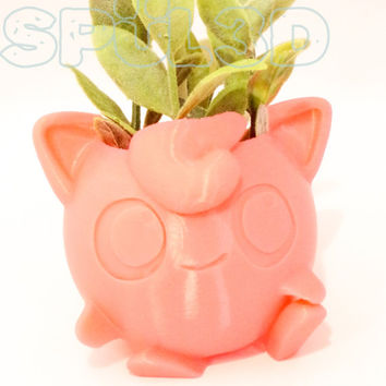 Jigglypuff Pokemon Planter - 3D Printed