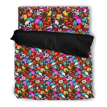 Retro Tattoos Bedding Set