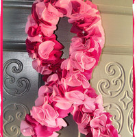 Breast Cancer Pink Ribbon Awareness Wreath