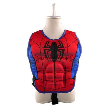 LMFGC3 New kids life jacket vest Superman batman spiderman swimming boys girls fishing superhero swimming circle pool accessories ring