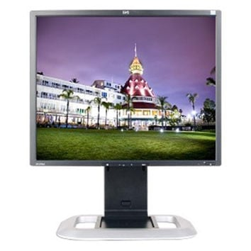 19 HP LP1965 DVI 1280x1024 Rotating LCD Monitor w-USB 2.0 Hub (Silver-Black) -Rotates to Portrait or Landscape View! -B