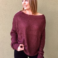 Cozy And Comfortable Sweater- Burgundy