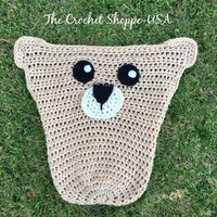 Bear Car Seat Cozy Unique Baby Gift Infant and Toddler PreSchool Sizes Baby Shower Gifts Made to Order