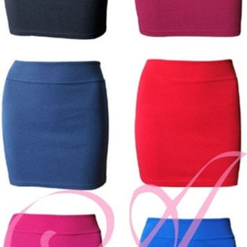 Lady's Celeb Retro Pencil Mini Skirt Bodycon Stretch Short Sexy 6Colors O/S = 5738986561