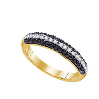 Black Diamond Fashion Ring in 10k Gold 0.49 ctw