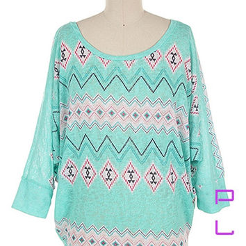 Spring Aztec Tunic (Plus)