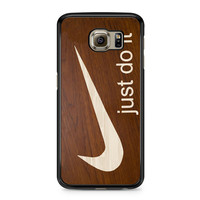 Nike Just Do It Cream Wood Samsung Galaxy S6 case