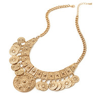 FOREVER 21 Tribal-Inspired Bib Necklace