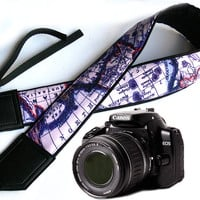 DSLR / SLR Camera Strap. World Map Camera Strap. Camera accessories. Photographer gift. Map. Australia. North America.
