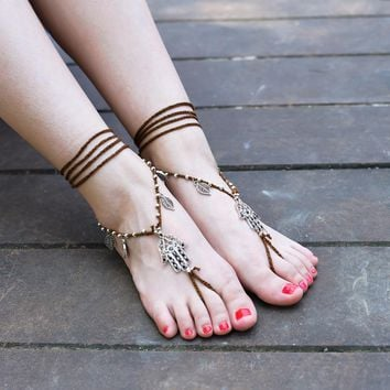 Wrap ankle bracelet Rope Foot Chain For Women